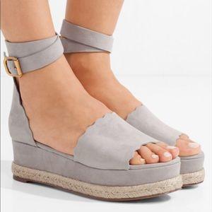 Lauren suede espadrille platform sandals